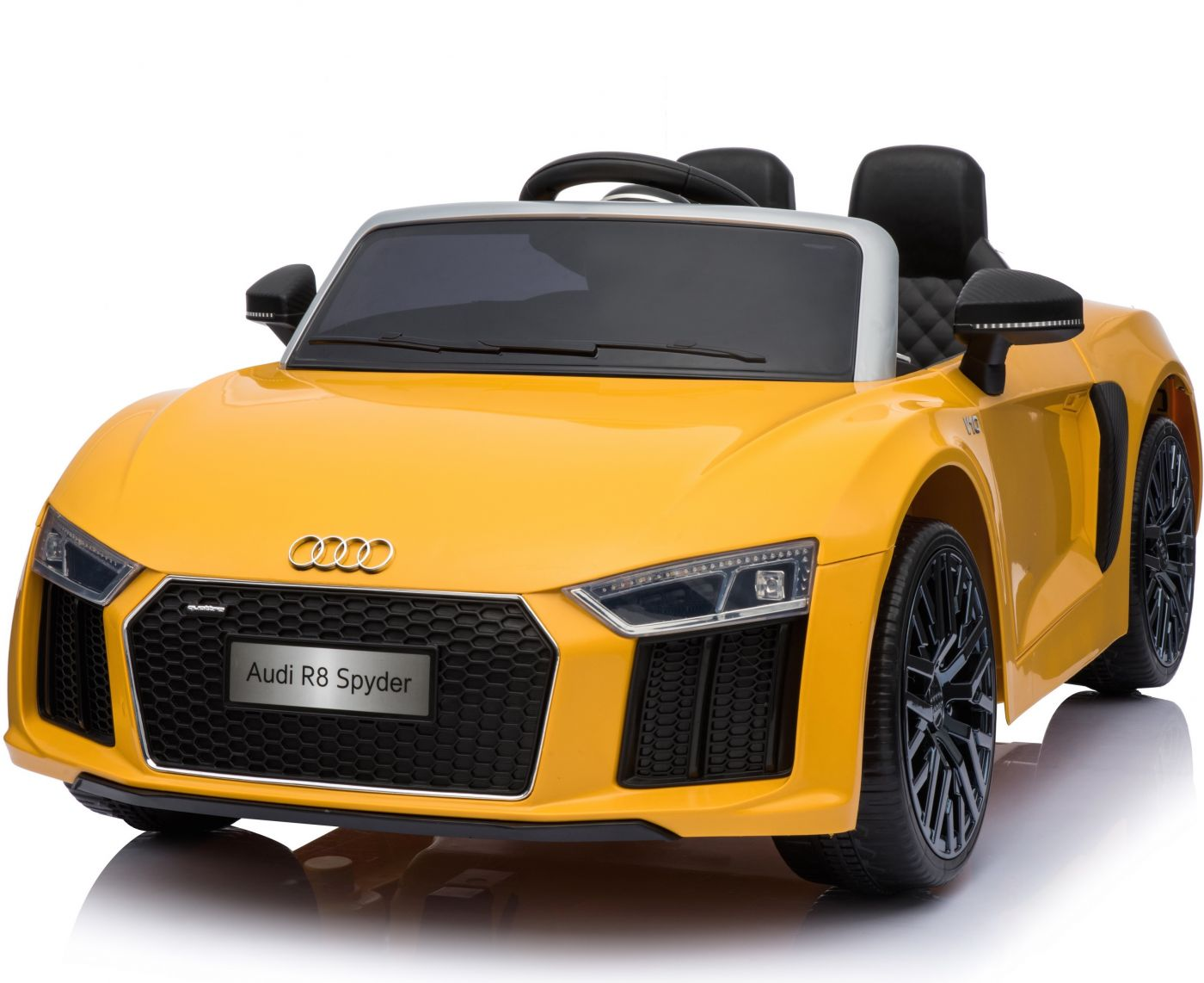 New Shape Licensed Audi R8 Spyder 12v Childrens Electric Ride On Toy Car Yellow