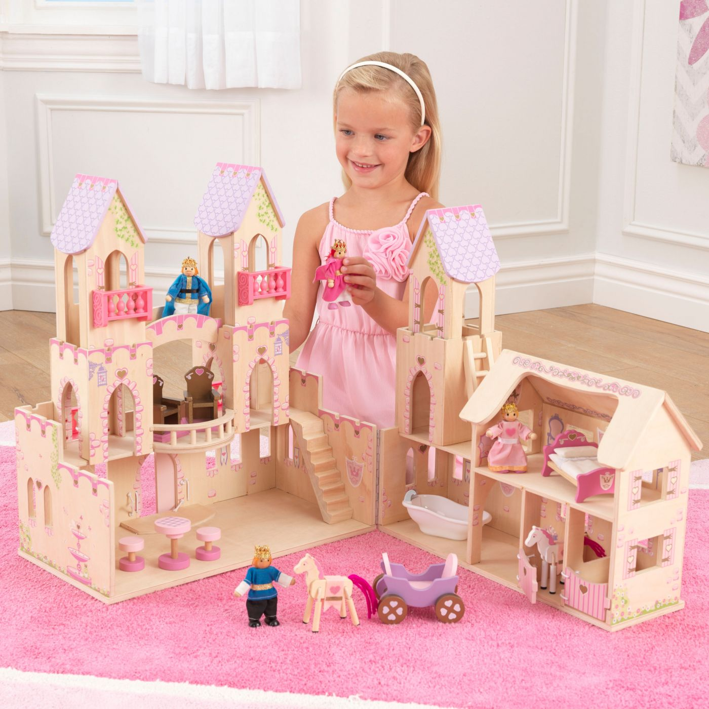 Kidkraft Princess Castle With Furniture For Just 79 95 Outdoor Toys