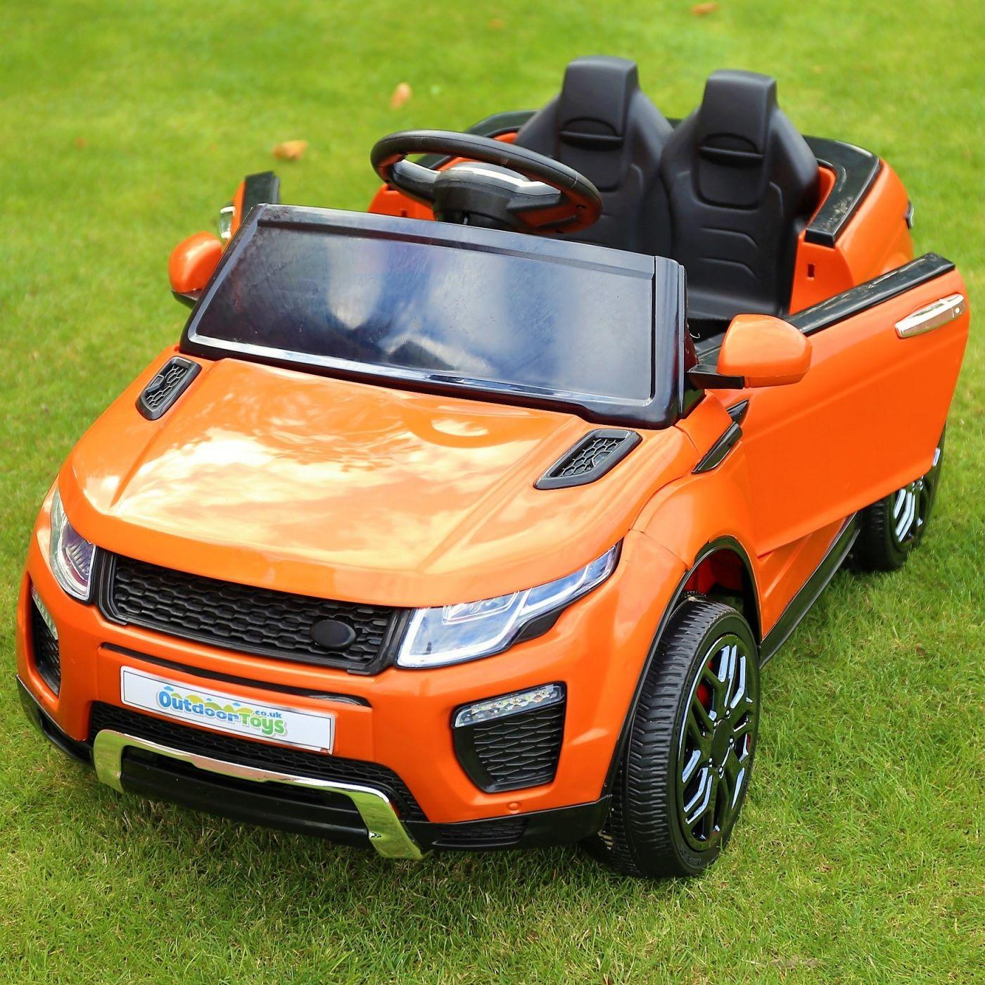 83bb7b7fd15 Range Rover Evoque Style 12v Child s Ride On Car - Orange For Just £164.95