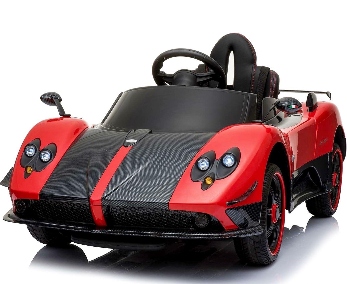 licensed pagani zonda f roadster children's 12v ride on car - red