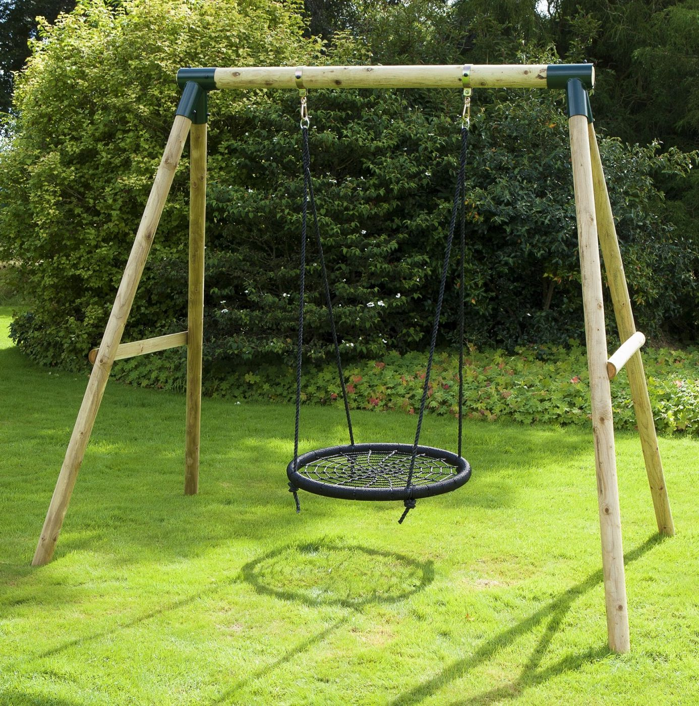 Rebo Mercury Wooden Garden Swing Set For Just 169 95 Outdoor Toys