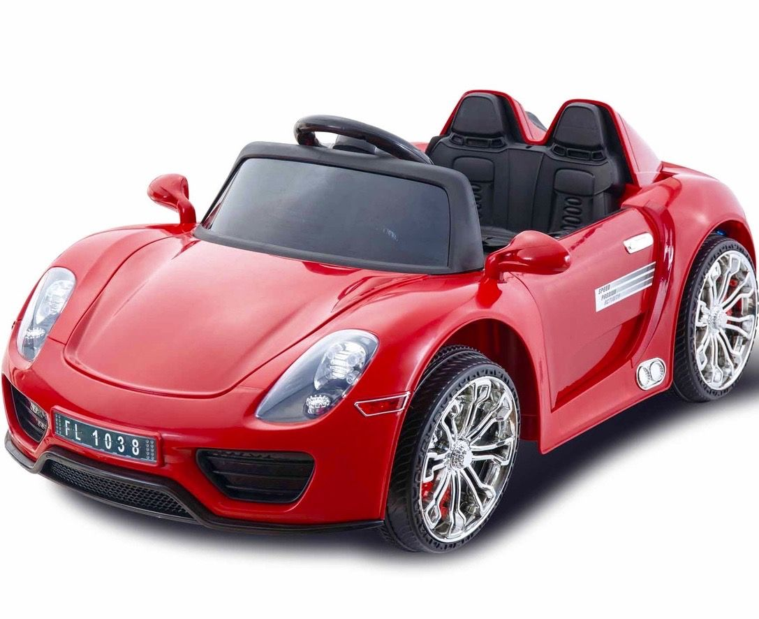 Porsche 918 Style 12v Children S Ride On Battery Operated Car Red