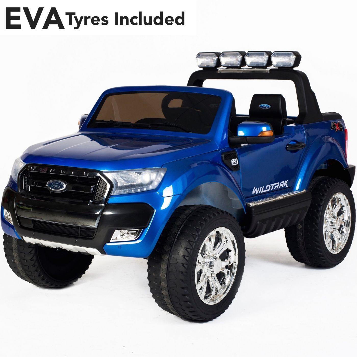 152f5324f5 Ford Ranger Wildtrak Licensed 4WD 24V  Battery Ride On Jeep - Blue EVA For  Just £349.95