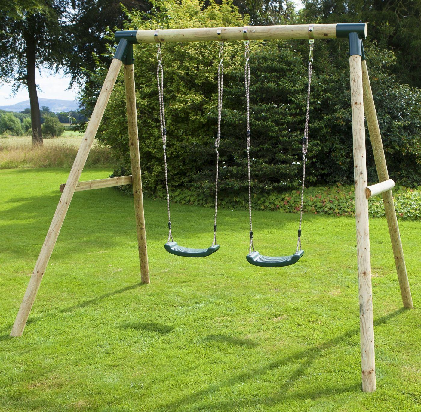 Rebo Venus Wooden Garden Swing Set For Just 14995 Outdoor Toys