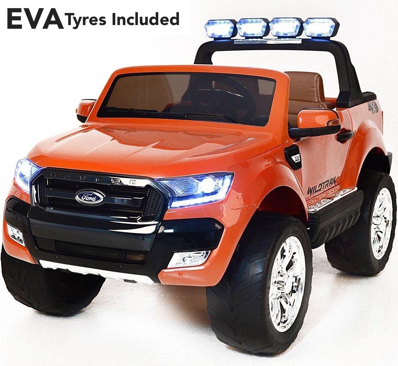 Ford ranger wildtrak licensed 4wd 24v battery ride on jeep orange eva