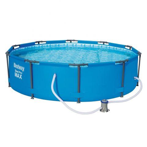 Steel frame pools outdoor toys for Frame pool obi