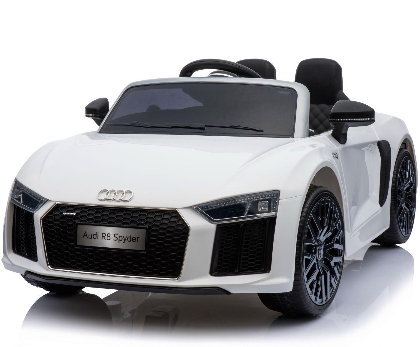 New Shape Licensed Audi R11 Spyder 11V Children's Electric Ride On Toy Car -  White | audi car toy