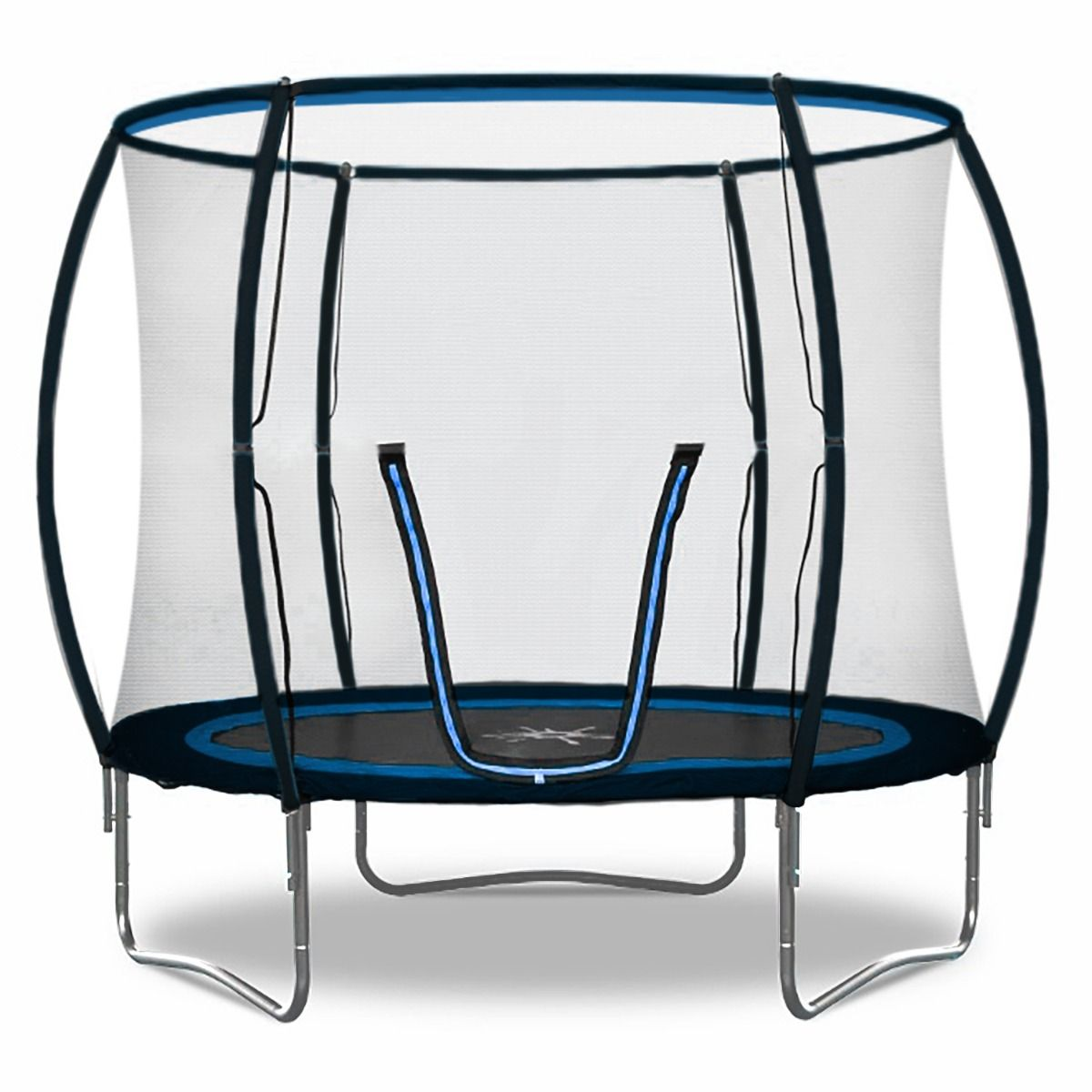 Rebo 8FT Jump Zone II Trampoline with Halo Safety Enclosure 2020 Model