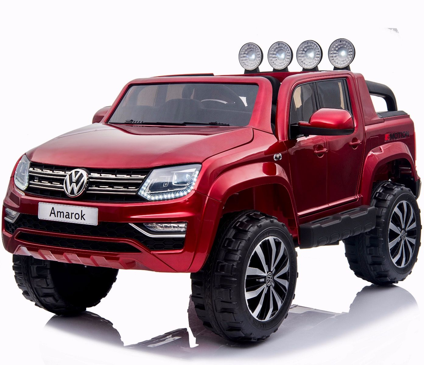 VW Amarok Licensed 4WD 24V Children's Battery Ride On Jeep - Red