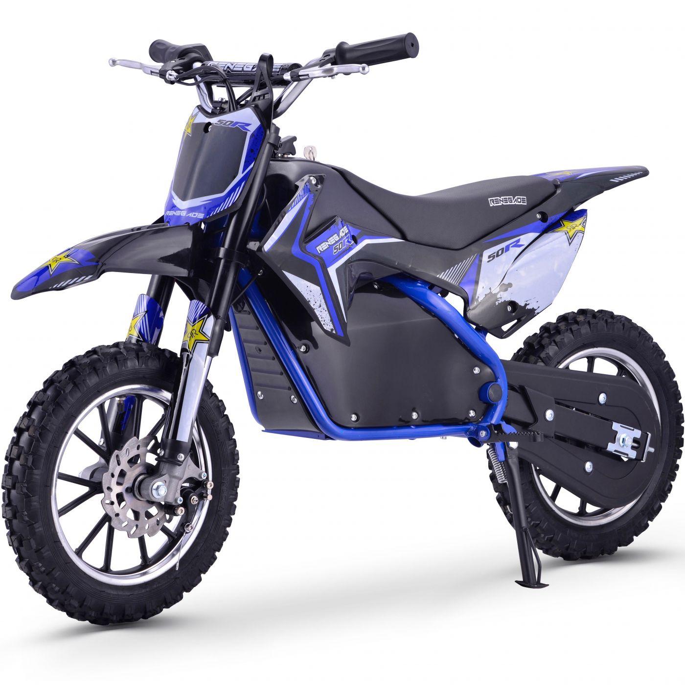 Renegade 50R 500W 36V Electric Mini Dirt Bike - Blue
