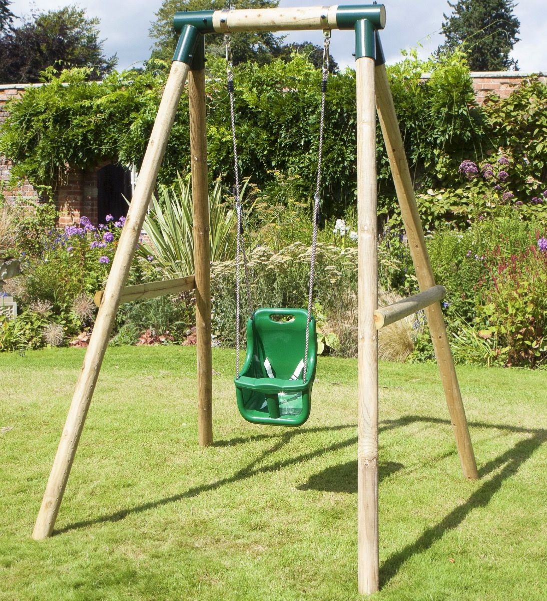 Rebo Wooden Garden Swing Sets Pluto