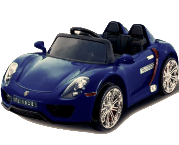 Porsche 918 Style 12v Children S Ride On Battery Operated Car Blue